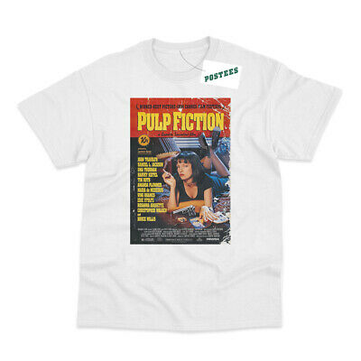 Retro Movie Poster Inspired by Pulp Fiction Printed T-Shirt