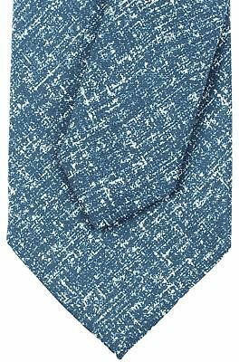 NWT EIDOS by ISAIA silk linen TIE tricot knit brown white luxury handmade Italy