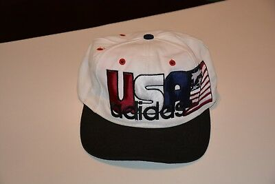 e1bb2502c3b Vintage Adidas America Snapback Hat USA Flag Embroidered 90s 3 Stripe Cap