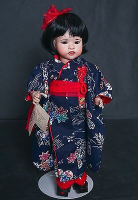 "1990 Wendy Lawton Girl's Day Japan Porcelain Doll with Tag 14"" L. E."