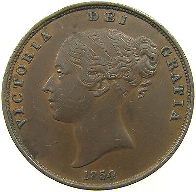 Great Britain Penny 1854    #t5 003