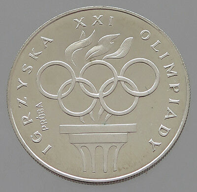POLAND SILVER  200 ZLOTYCH 1976 PROOF PROBA #p23 037