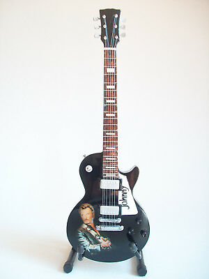 Guitare miniature Gibson hommage à Johnny Hallyday