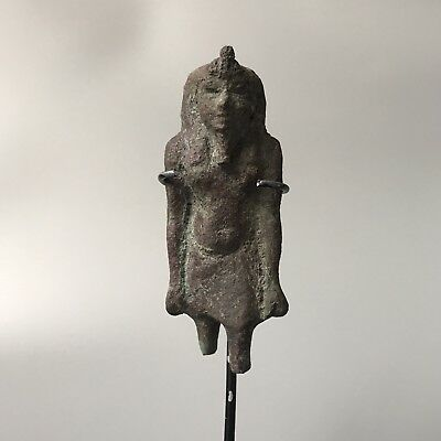 Ancient Egyptian God Pharaoh Bronze Figurine Statue
