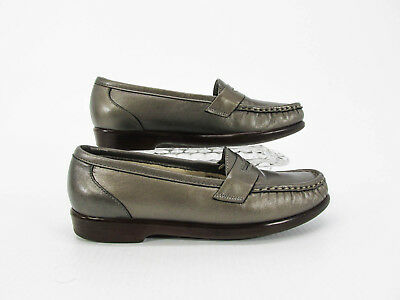 57997a75bc0 SAS WINK PEWTER Leather Penny Loafer Slip On Women s Size 9.5 N ...