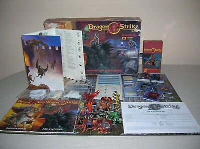 Dragon Strike Boardgame 1993 TSR with excellent painted figures