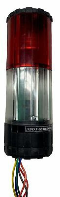 LX2VXF-G63W/24VAC, LUXOR, Tower Light 65Mm, Continuous, 24Vac Red/Clear