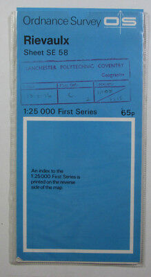 1958 Old Vintage OS Ordnance Survey 1:25000 First Series Map SE 58 Rievaulx