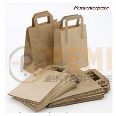 10 X Medium Brown Kraft Craft Paper Sos Carrier Bags 80Gms Food Take Away Bag