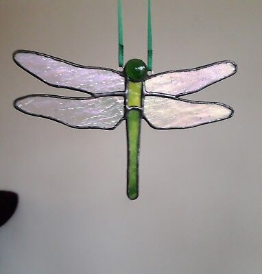 Stained glass handmade dragonfly by 'Faith Stained Glass'