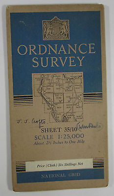 1947 OS Ordnance Survey 1:25000 First Series Provis map NY 10 Wast Water 35/10
