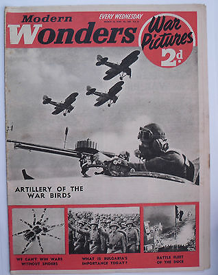 Modern Wonders Magazine March 16 1940 WWII War Pictures & Royal Italian Navy