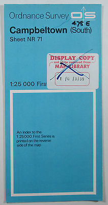 1961 OS Ordnance Survey 1:25000 First Series Map NR 71 Campbeltown (South)