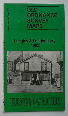 Old Ordnance Survey Map Langley & Londonderry 1902: Worcester shire 5.02 Godfrey