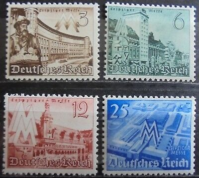 GERMANY THIRD REICH 1940 Leipzig Fair Complete Set of 4 MNH