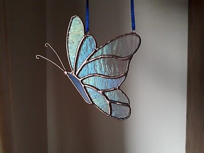 Stained Glass Butterfly Wall/Window Decoration Handmade Gift Tiffany Style