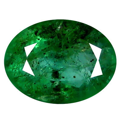 1.02 ct FIVE-STAR OVAL CUT (7 x 5 mm) COLOMBIAN EMERALD NATURAL LOOSE GEMSTONE