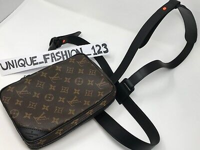 5d3c71a24eb9 LOUIS VUITTON UTILITY Side Bag Brown Monogram Virgil Abloh M44477 Man Bag  Small - £1