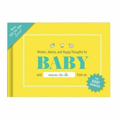 NEW Knock Knock Fill In The Blanks - Wishes For Baby Book