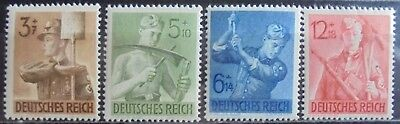 GERMANY THIRD REICH 1943 Labour Corps Complete Set of 4 MNH