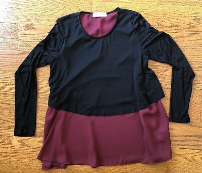 c4022d5dc1046b Latched Mama Black and Red Nursing Shirt Size Small