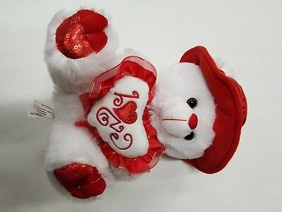 Happy Valentines Day Teddy Bear Valentines Gift I love you with music.