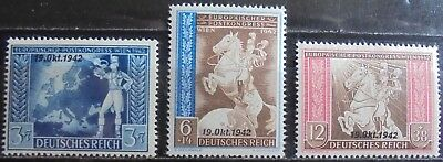 GERMANY THIRD REICH 1942 European Postal Congress Vienna Overprint Set of 3 MNH