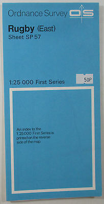 Old Vintage 1973 OS Ordnance Survey 1:25000 First Series Map SP 57 Rugby (East)