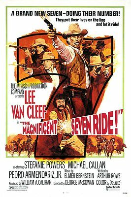 """The Magnificent Seven Ride"" Lee Van Cleef & Stephanie Powers Western RARE"