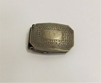 "Vintage Nickel Silver Belt Buckle, Marathon Multi-Grip, for 1"" wide Belts c.1921"