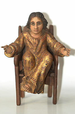 Spanish Colonial Holy Child of Atocha Carving