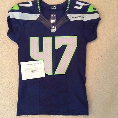 Seattle Seahawks Game Used 2015 Eric Pinkins Jersey w  Seahawks COA e93d83005