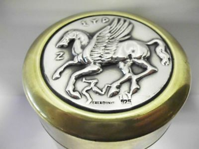 Dose 925 Silber+Messing-Pegasus-ILIAS LALAOUNIS-fantastic box-brass+solid silver