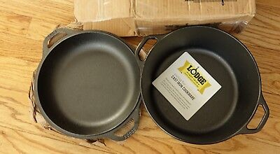 Lodge L8DD3 Cast Iron Dutch Oven, 5 qt, DAMAGED COVER