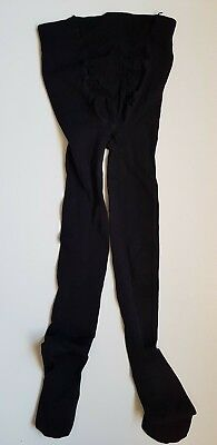 a91a20ca03745 New Ex Branded Maternity New Improved Fit 300 Denier Tights in Black SEU4