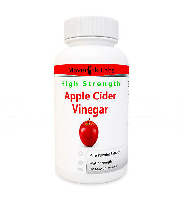 Apple Cider Vinegar Tablets 500mg Pills - UK Made GMP Quality Mother Capsules