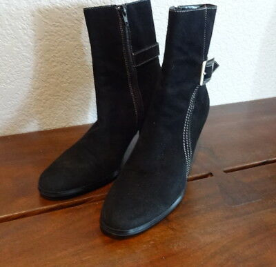 e90f033f25c LORD   TAYLOR Brown Suede Ankle Boots Booties High Heel 8 M -  55.24 ...