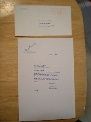 Vintage Letter And Envelope From Larry Crosby (Bing's Bother)-1968