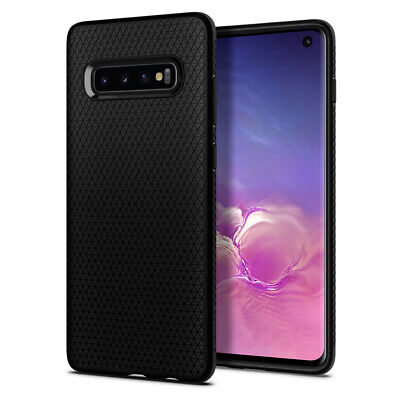 Galaxy S10, S10 Plus, S10e Spigen® [Liquid Air] Black Protective Slim Case Cover