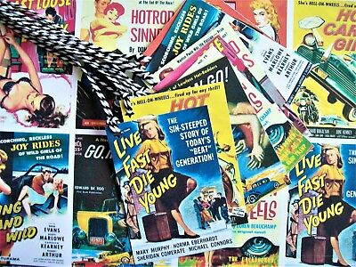 1950s 50s Vintage Retro Rockabilly Shirt Price Tags Cards Stickers - 50 or 100Pk