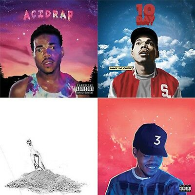 Chance The Rapper -4 Mixtape CD Acid Rap, Coloring Book, 10 Day, Surf NEW SEALED