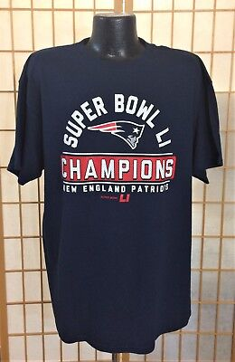 60be94077 NFL SUPER BOWL 51  LI CHAMPIONS New England Patriots Majestic Shirt XL - NEW