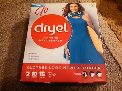 New Dryel At Home Dry Cleaner Starter Kit 2 Loads 10 Garments With Cloth