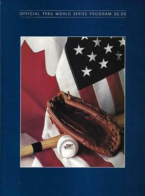 1986 World Series Program, New York Mets vs Boston Red Sox - Mint