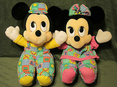 "Disney Applause BABY MICKEY & MINNIE MOUSE Plush Stuffed Animal 15"" long"