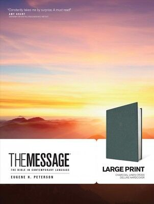 Message : The Bible in Contemporary Language, Large Print, Charcoal Linen, Cr...