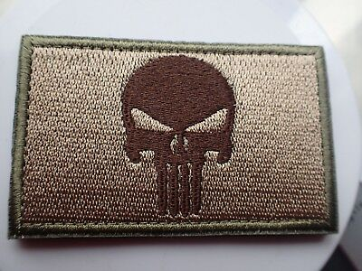 New Punisher Patch Army Green Olive Tactical Morale Hook Loop Patch Aussie Stock