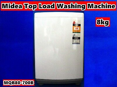 Midea Fully Automatic Top Load Washing Machine MQB80-700B 8kg White (Brand New)