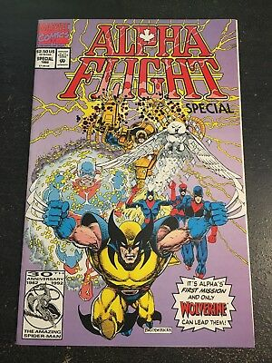 Alpha Flight Special#1 Incredible Condition 9.0(1992)Wolverine App,Broderick Art