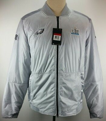 988b32fb5 Nike Philadelphia Eagles Super Bowl LII 52 Media Night Bomber Jacket Size  Large